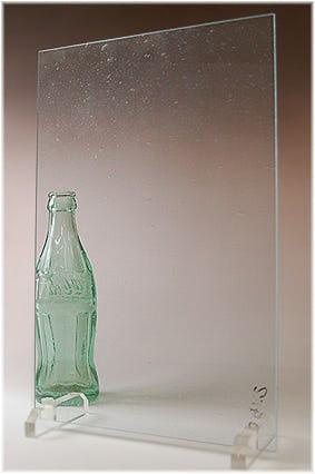 泡入りレトロガラス(泡少なめ) A4サイズガラス