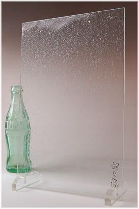 泡入りレトロガラス(泡多め) A4サイズガラス