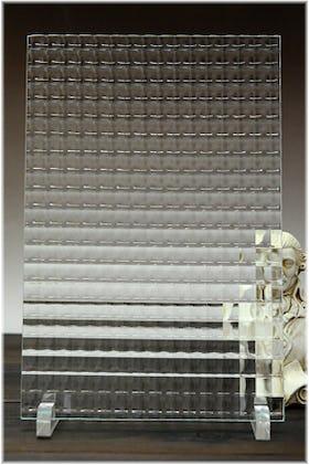 チェッカーガラス(リストラルM) A4サイズガラス