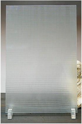 チェッカーガラス(リストラルD) A4サイズガラス