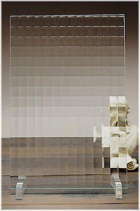 チェッカーガラス(ヒシクロス) A4サイズガラス