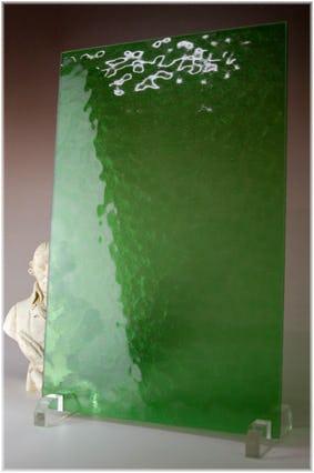 キャセドラルMIN(グリーン) A4サイズガラス