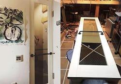 T様 自作の木製ドアのガラス