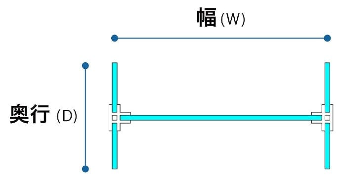 H字型(平面図)