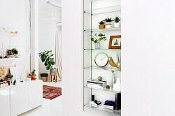 ガラス棚板:ステンレス棚柱セット
